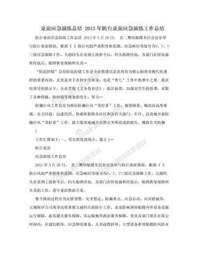 桌面应急演练总结 2013年防台桌面应急演练工作总结.doc