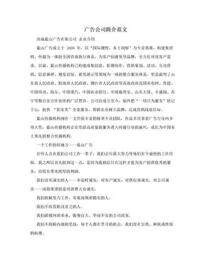 广告公司简介范文.doc