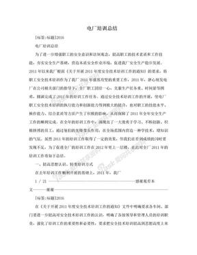 电厂培训总结.doc