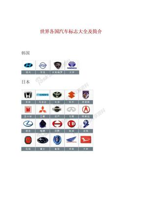 世界各国汽车标志大全及简介--必备.doc