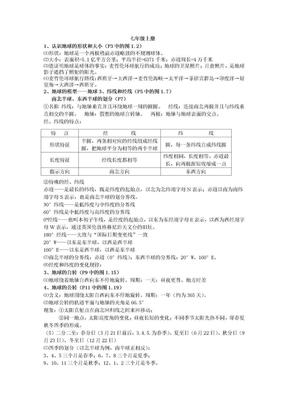 初中地理会考复习资料.doc