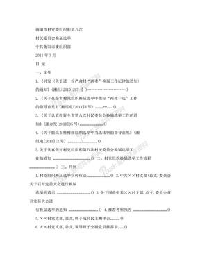 村党组织换届选举工作指南.doc