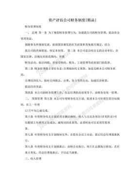 资产评估公司财务制度[精品].doc