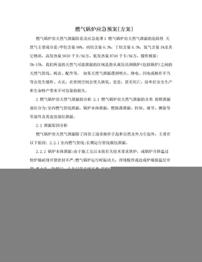 燃气锅炉应急预案[方案].doc