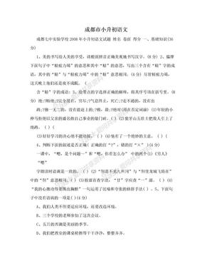 成都市小升初语文.doc