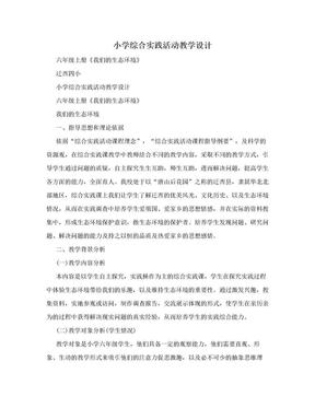 小学综合实践活动教学设计.doc