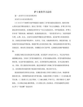 护士业务学习总结.doc