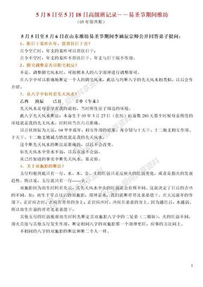 第二届易节及高级班听课记录(陈国日版).doc