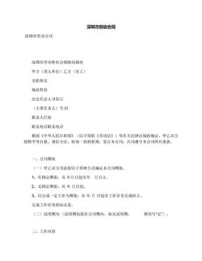 深圳市劳动合同.docx