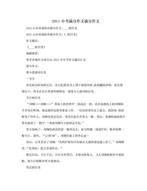 2011中考满分作文满分作文.doc