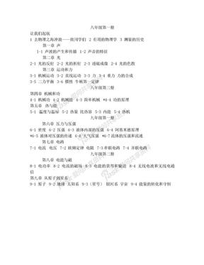上海市初中物理教材目录.doc