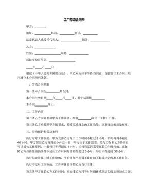工厂劳动合同书.docx