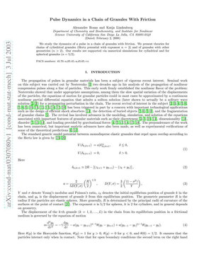 有摩擦的颗粒链脉冲动力学.pdf
