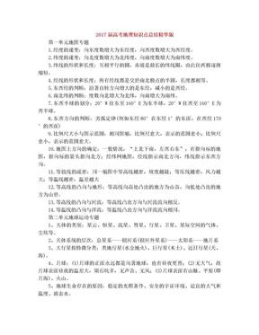 高考地理知识点总结精华版.doc