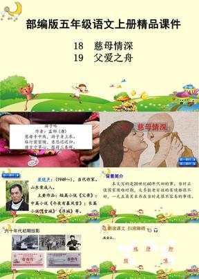 新部编版五年级上册语文精品课件 慈母情深 父爱之舟.ppt