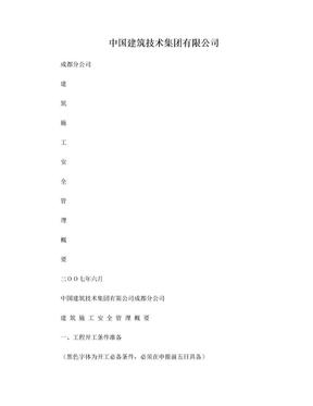 中技成都分公司建筑施工安全管理概要.doc