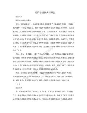 园长培训班实习报告.doc