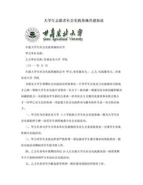 大学生志愿者社会实践基地共建协议.doc