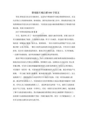 禁毒影片观后感800字范文.doc