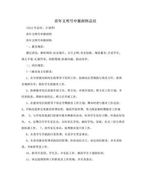 青年文明号申报材料总结.doc