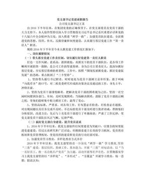 2017年党支部书记党建述职报告2.doc