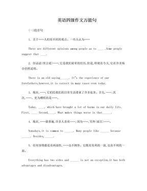 英语四级作文经典套用例句.doc