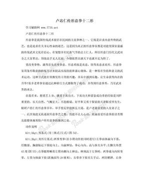 卢忠仁传形意拳十二形.doc