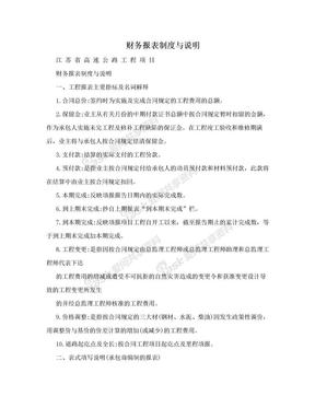 财务报表制度与说明.doc