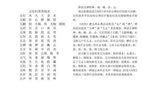 五行归类系统表.doc