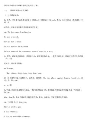 英语句子成分结构详解.doc
