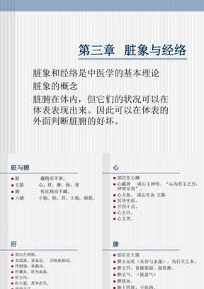 中医Ch3 脏象与经络.ppt