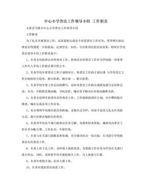 中心小学普法工作领导小组  工作职责.doc