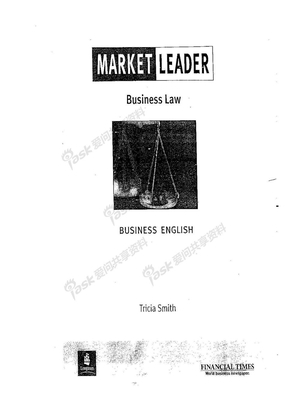 TOLES-Market Leader Business Law.doc