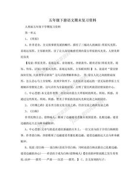 五年级下册语文期末复习资料.doc