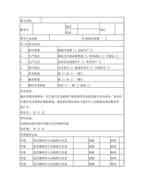 合格供方评审记录表.doc