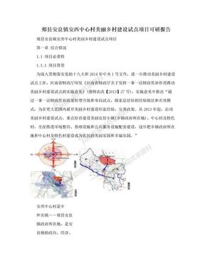 郏县安良镇安西中心村美丽乡村建设试点项目可研报告.doc