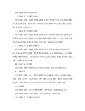 仓管岗位职责及工作流程标准.doc