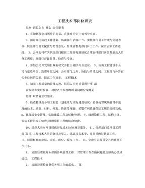 工程技术部岗位职责.doc
