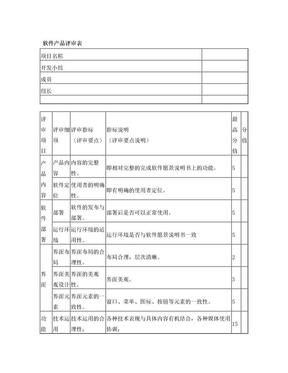 软件产品评审表.doc