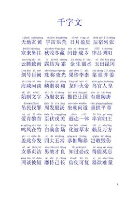 千字文拼音版.doc