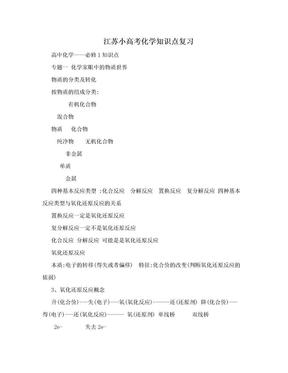 江苏小高考化学知识点复习.doc
