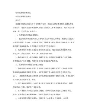 银行反洗钱自查报告.doc