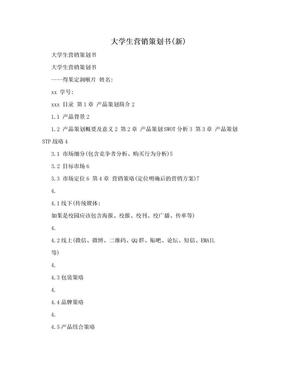 大学生营销策划书(新).doc