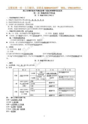 江苏小高考生物复习知识点总结.doc