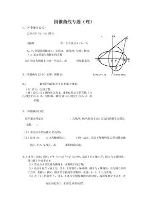 圆锥曲线专题.doc