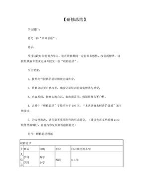 新任教师网络培训研修总结.doc