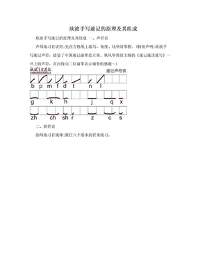 欣波手写速记的原理及其组成.doc