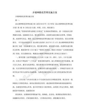 乡镇网格化管理实施方案.doc