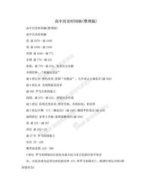 高中历史时间轴(整理版).doc