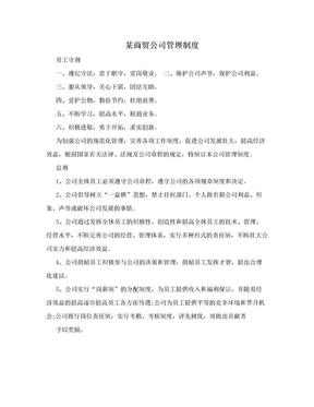 某商贸公司管理制度.doc